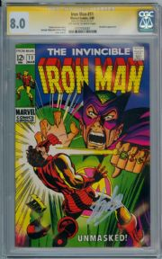 Iron Man #11 1969  CGC 8.0 Signature Series Signed Stan Lee Mandarin Marvel comic book